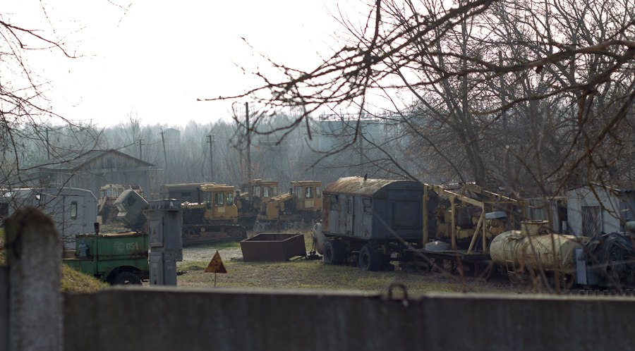 parking vehicles Chernobyl
