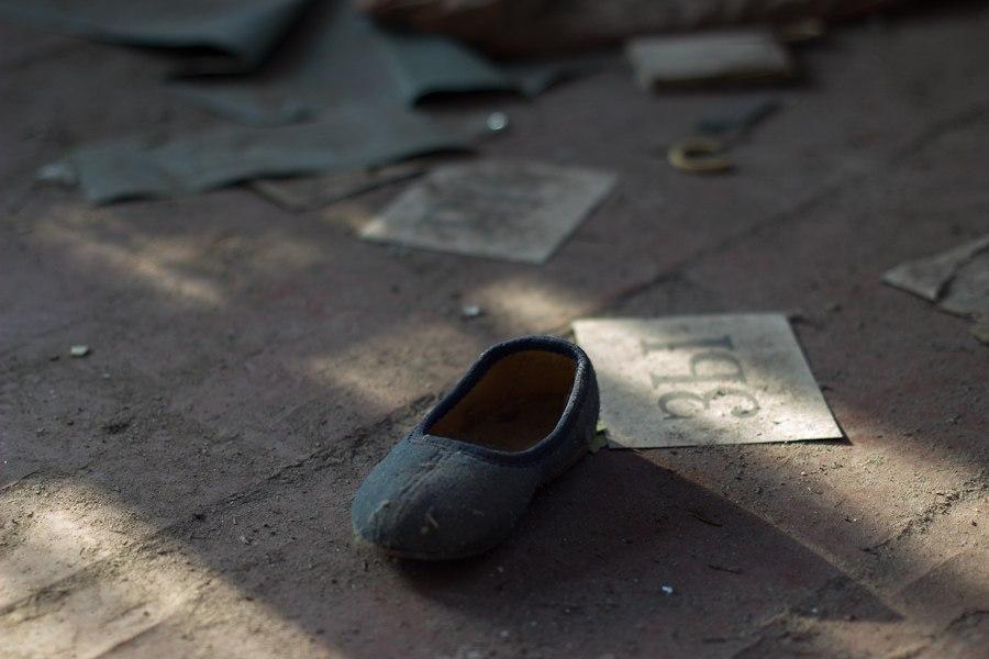 Детская обувь, тапочки  Копачи, Чернобыль 2012