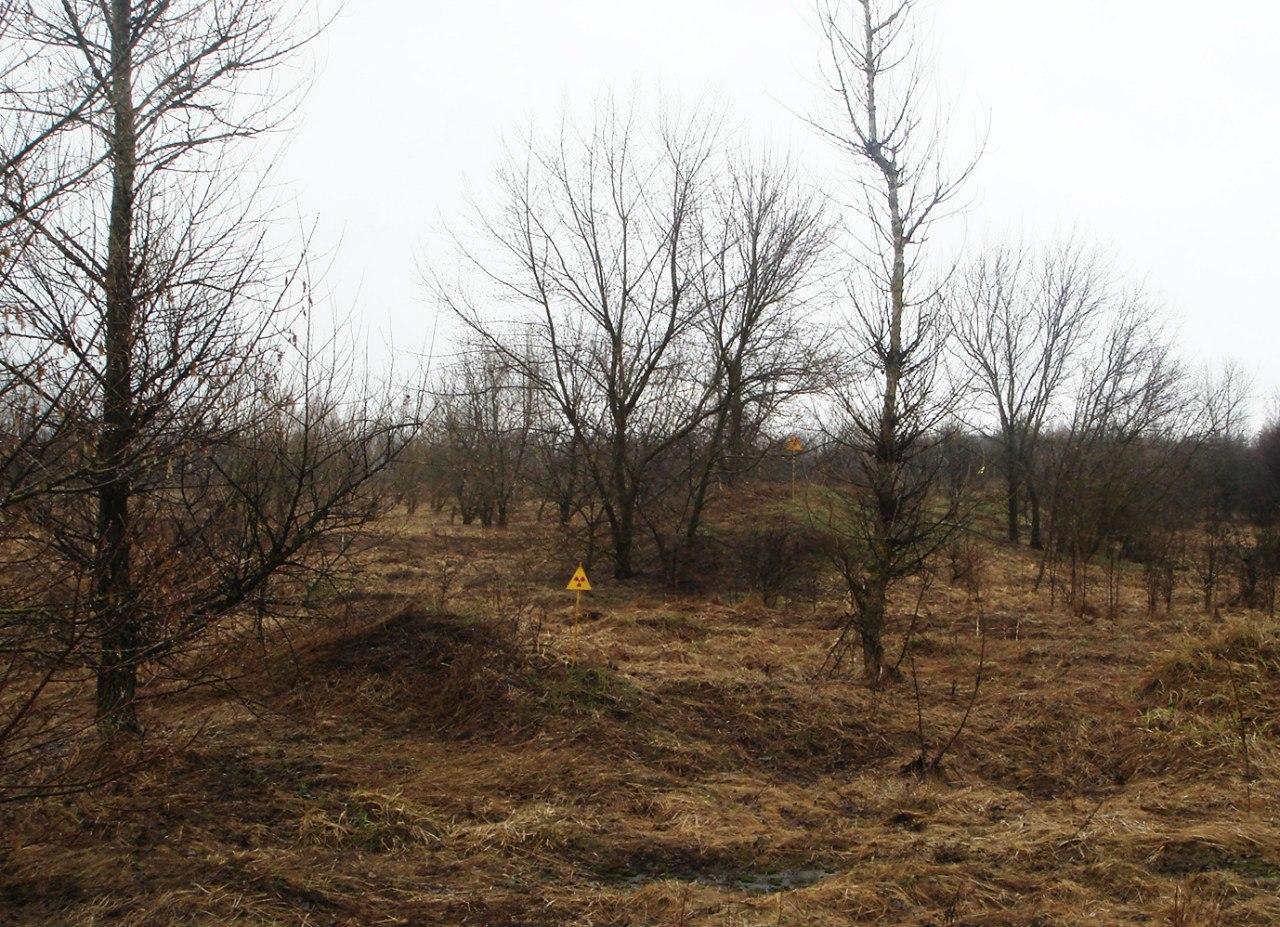 Холмы от закопаных радиоактивных домов в Копачах