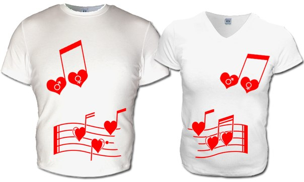 ...заказать (купить) парные футболки для влюбленных, парные майки для.