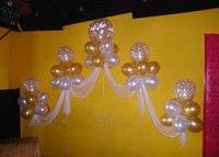 сердца из шаров, арки из шаров, гелиевые цепочки, букеты из шаров, украшение воздушными шарами автомобиля...