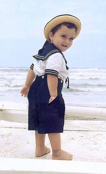 Описание: Морской стиль в детской одежде Мама в.
