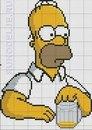 """Сентябрь 15th, 2011.  Продолжение коллекции схем для вышивки с персонажами из популярного сериала  """"Симпсоны """"."""