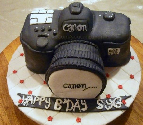 Торт-фотоаппарат canon