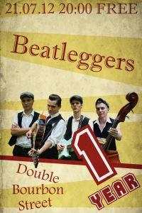 21.07 The Beatleggers B-DAY! 1 year on stage!!!