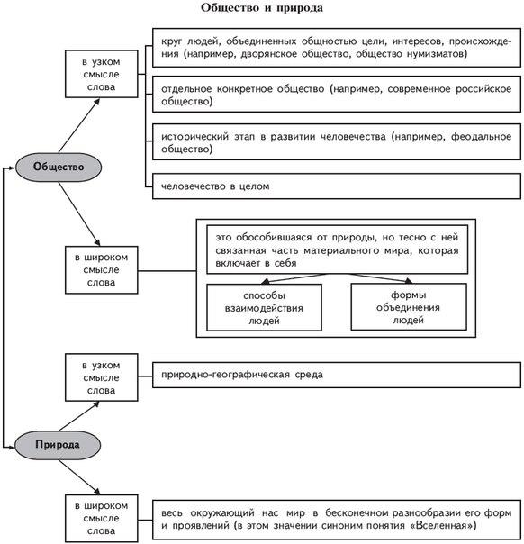 таблицы и схемы по обществознанию