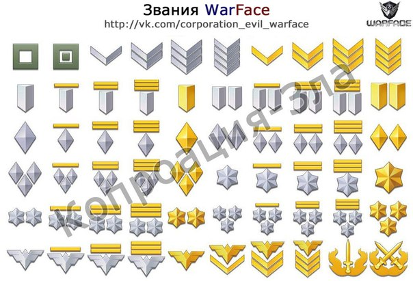 картинки warface все звания