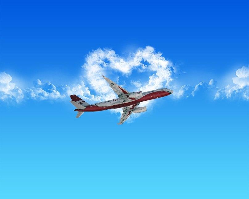 Открытка счастливого пути самолетом