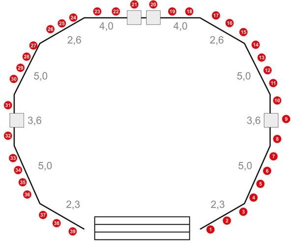 Схема расположения столов для