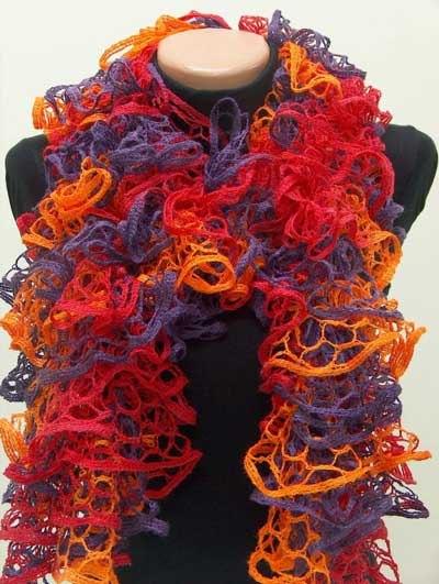 Пряжа для вязания шарфов и воланов FLAMENKO.