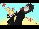 【Naruto】Deidara hits Obito! Poka Poka Shiteru Dake!!