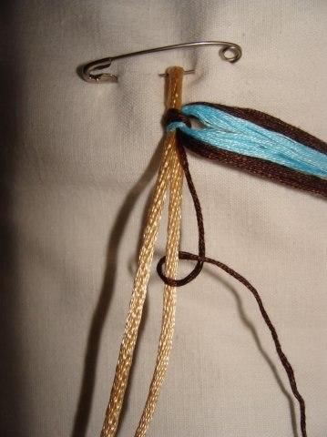 Схема фенечки на шнурке.