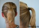 Для того, что бы сделать красивый пучок из волос средней длины, сделайте...