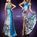 Голубое длинное греческое вечернее платье Интернет магазин.
