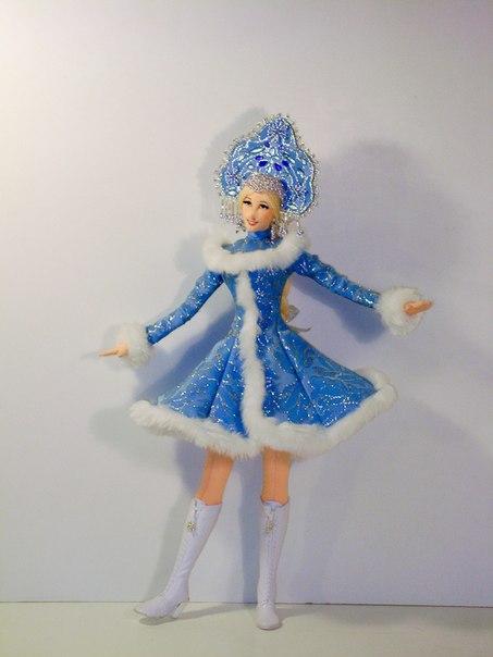 Наряд снегурочки своими руками для куклы