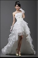 Свадебные платья Pleated bowknot Embellisehd Wedding Dress