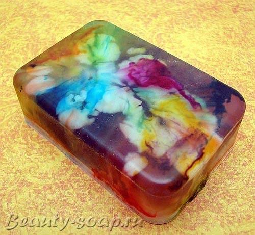 Как сделать разноцветное мыло ручной работы