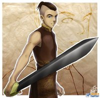 Аанг Катара Зуко Тофф атакуют тебя!в это время сзади подбегает Сокка и Суюки они отакуют тебя космическим мечём.