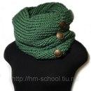 Вязание крючком схемы шарф-хомут.