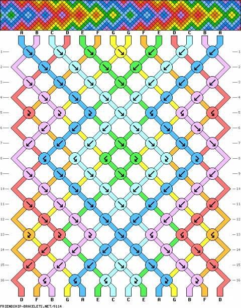 фенечки схемы макраме