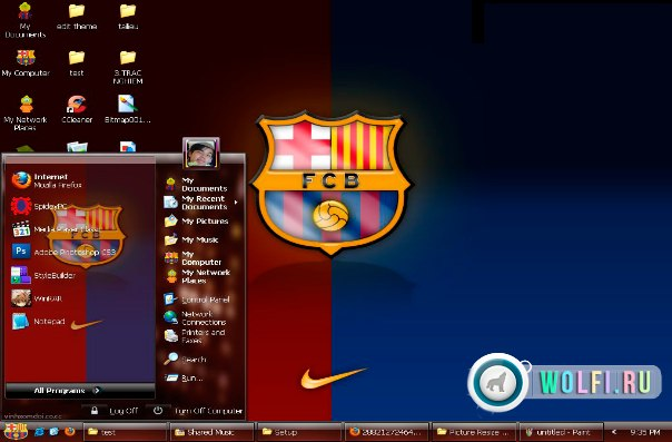 "���� Windows XP ""FC Barcelona / �� ���������"""