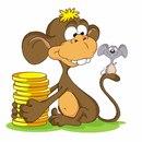 """Схема вышивки  """"Год обезьяны """" ."""