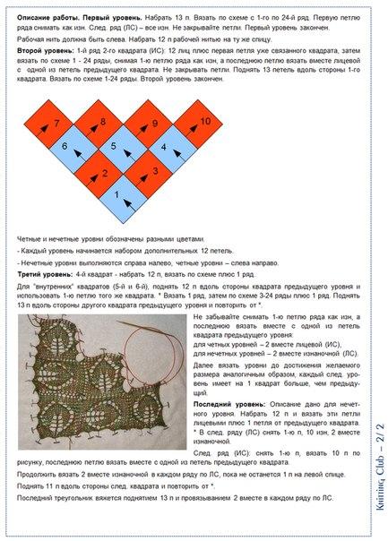 Вязание в стиле пэчворк описание 977
