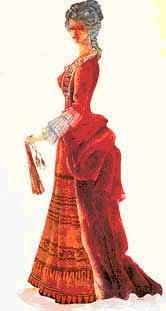 Прежние русские одежды остались в народе и в быту у части купечества и В XV