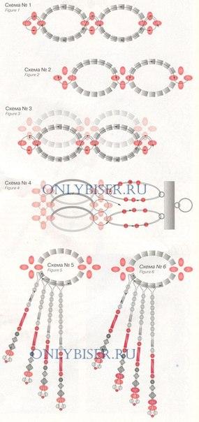 """onlybiser.ru.  Второй и все последующие ряды плетем по этому же принципу, только, выплетая  """"крестики """"..."""