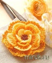 для любительниц вязания - вязаный цветы (даже мне понравились.