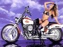 Обои на рабочий стол.  Девушки и мотоциклы-00045.jpg.