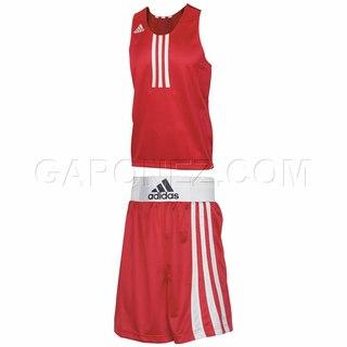 Adidas Боксерская Форма (Clubline) Красного Цвета 055398 & 052945 Boxing Apparel (Wear) Amateur Set...