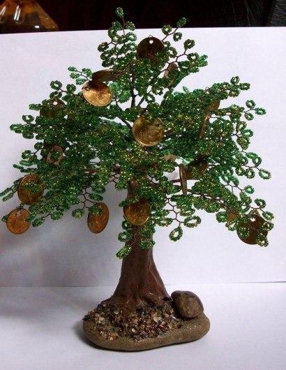 тэги. категория. дерево из бисера. поделки из бисера. стиль и красота