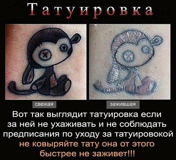 Как ухаживать за татуировкой в первые дни в домашних условиях