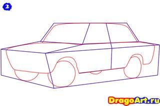 Как рисовать машины лада