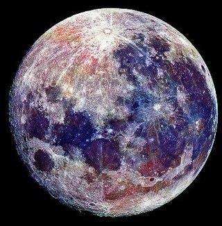 луна цветная