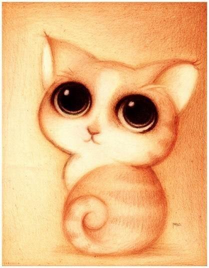 Милые рисунки животных отFabo., Глазастые пушистые комочки— Фото № 3
