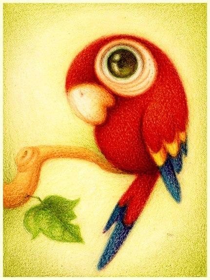 Милые рисунки животных отFabo., Глазастые пушистые комочки— Фото № 5