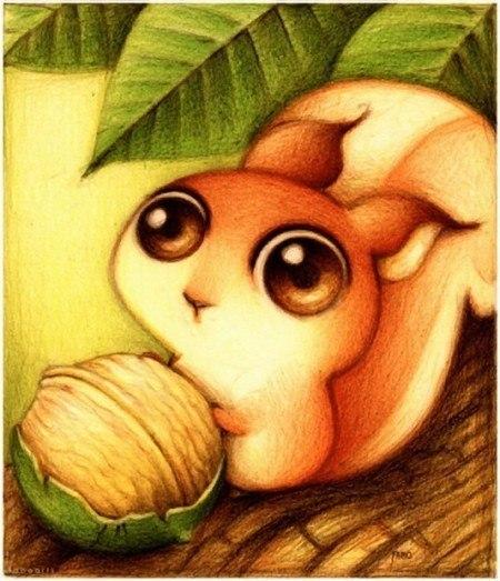 Милые рисунки животных отFabo., Глазастые пушистые комочки— Фото № 6