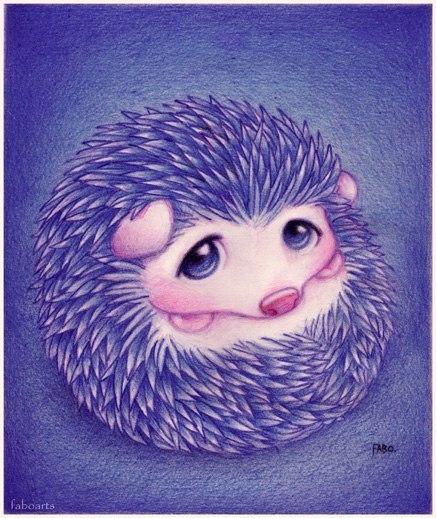 Милые рисунки животных отFabo., Глазастые пушистые комочки— Фото № 9