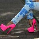 Розовые Туфли На Высоком Каблуке