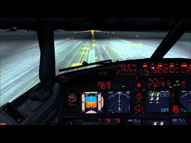 PMDG 737 NGX Landing in Boryspil(UKBB) VATSIM