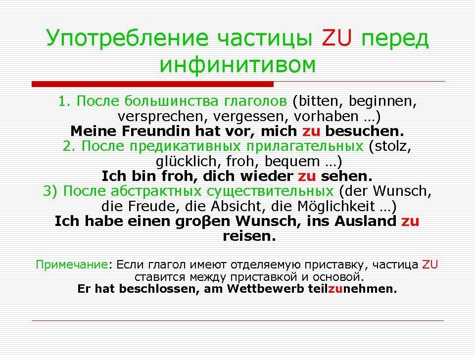 Когда употребляется вфы в немецком