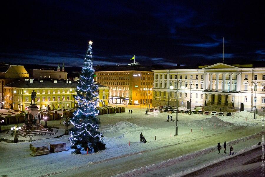 Хельсинки Новый год Финляндия снег зима праздник