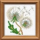 Размер вышивки 10*10 см, 5 цветов.  В наборе: нитки мулине Anchor, канва 14 Aida Zweigart белая, бисер(3 вида)...