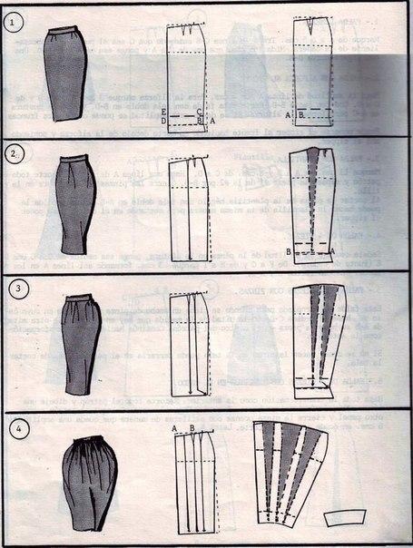 Выкройка юбки-плиссировки.