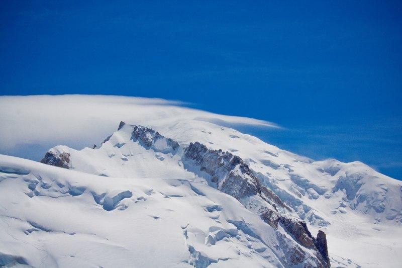облако на вершине Монблана