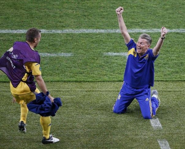 фото, Евро-2012, Сборная Украины по футболу, Олег Блохин, Андрей Шевченко