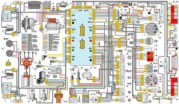 Электрическая схема ВАЗ-21213