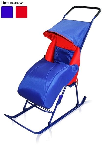 1. Складные санки-коляска для детей от 1 года до 3,5 лет.